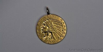 1909-D $5 Gold Half Eagle Coin Indian LOOK NO RESERVE GOLD | 11674