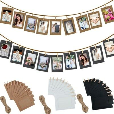 10 Pcs Paper Frame With Clips 6 Inch Wall Photo Frame DIY Hanging Picture Album