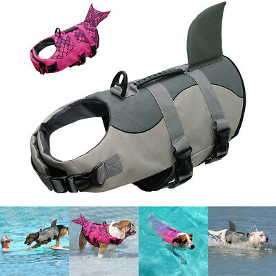 Shark/Mermaid Dog Life Jacket Large Neoprene Preserver Safety Vest for Swimming
