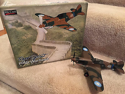 Tiger Spirit Ltd Edition Die Cast Metal P-40 Warhawk Collectible Airplane Bank