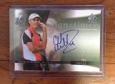 Charles Howell III - 2004 Upper Deck Sign Of Times Handsigniert Auto Karte Sott