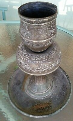 Antique 19Th Century Persia/levant Tinned-Copper Ottoman Style Incense Burner☆☆☆