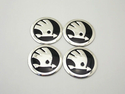 56mm Wheel Hub Caps Emblem Badge Logo Decal Sticker New Skoda u5642