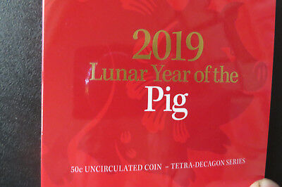 2019 50Cent  Coin Uncirculated  Year Of The Pig