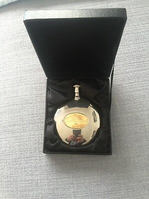 woodford reserve round metal flask