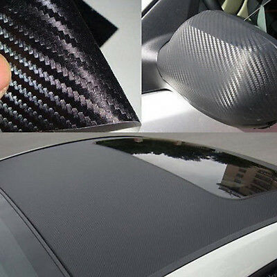 BED9 3D Carbon Fiber Film Car Body Stickers CARBON 30cmx127cm Black