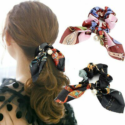 Women's Fabric Hair Band Rubber Band Bow Knot Ponytail Holder Hair Tie Scrunchie