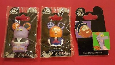 Four (4) FIGMENT AND DREAMFINDER PINS   New On Card   WDW
