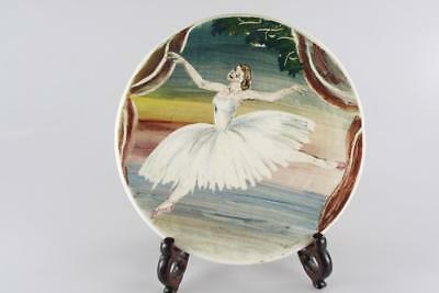 Guy Boyd Australian Pottery Hand Painted Ballerina Small Plate Signed