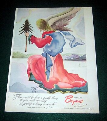 1948 Christmas Angel by Dali for Bryans Print Ad