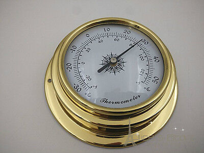 70mm Brass  enclosed thermometer