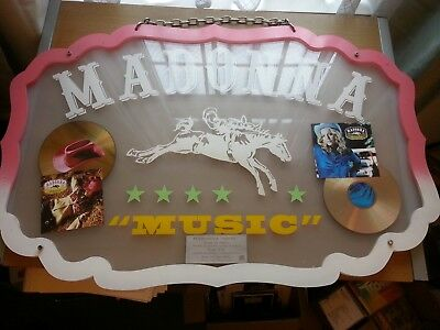 Madonna - Music (STUNNING ORIG FRENCH SHAPED CD AWARD FOR THE SINGLE AND ALBUM)