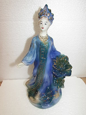 "Vintage Russian USSR Porcelain Figurine ""QUEEN OF COPPER MOUNTAIN"" GZHEL"