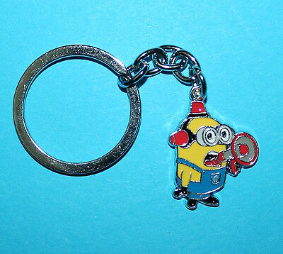 Minions Keyring Megaphone Key Ring Bag Tag Label Party Favour Despicable Me NEW