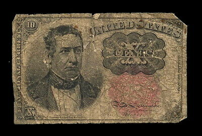1874 10 Cent Fractional Currency Note, Series 1874 William Merideth Fifth Issue