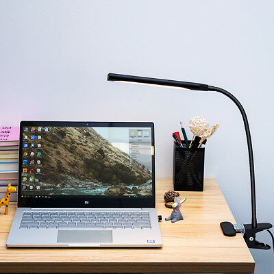 Flexible 48 LED Table Lamp 5W Reading Light Dimmable USB Clip-On Desk