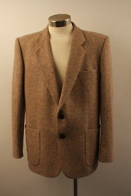 MEDIUM / LARGE, 44 R MENS ORIGINAL VINTAGE 1960s / 70s  TWEED JACKET.