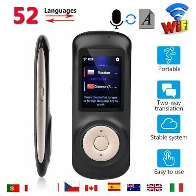 Smart Translator 52 Languages Instant Voice Device Mini Trans Travel Pocket WiFi