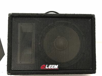 1 x Leem Powered Foldback Monitor stage speaker