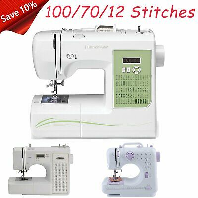 100/70/12 Stitches Mini Desktop Electric Household Sewing Machine W/Foot Pedal M