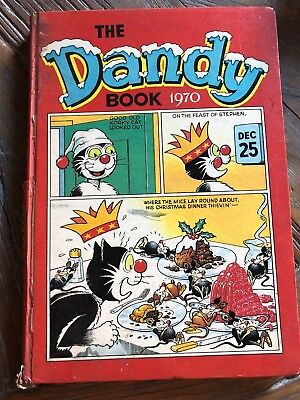 The Dandy Book - Annual 1970 - Pre-loved Vintage Item thats in Good Condition.