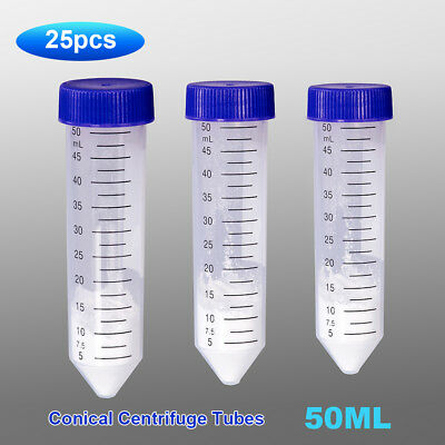 25PCS 50ml  Gamma Radiation Sterilized Centrifugal Tube Conical  Screw Caps