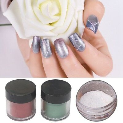 Nail Glitter Dipping Powder Holographic Matte Nail Art Manicure Pigment DIY Tool