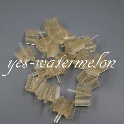 20 Pcs Large Dental Silicone Mouth Prop Support Opener Retractor For Adult Clear