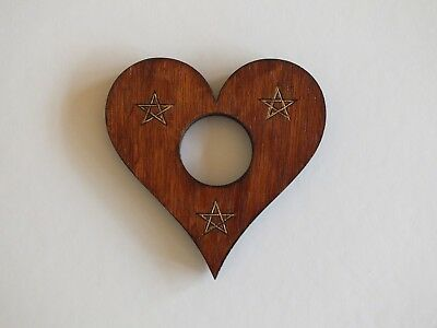 """Wooden Quality ply Planchette For Use With Spirit Ouija Board   """"Pentagram """""""