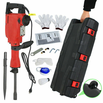 2200W Demolition Hammer Electric Concrete Breaker Punch 2 Chisel Bit Case SD