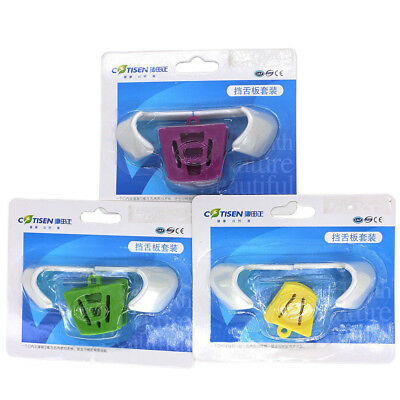 Dental Orthodontic Silicone Mouth Prop Latex Bite Block with Tongue Guard S+M+L