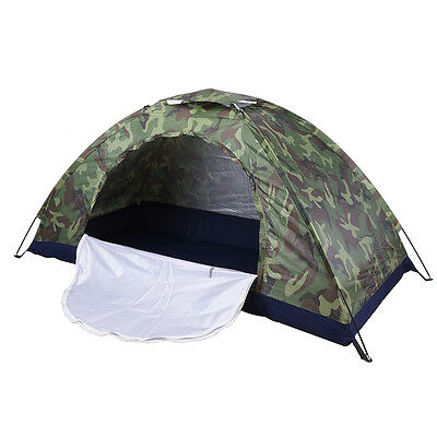 1-2 Person Folding Tent Camo Outdoor Camping Waterproof Camouflage Hiking