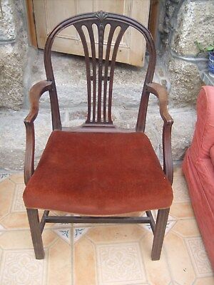 Antique Hepplewhite Style Carver Chair