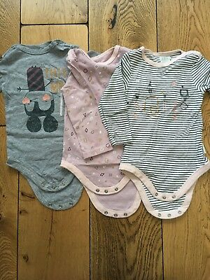 Mamas And Papas Baby Bodies Long Sleeve Size 12-18 Months Girls