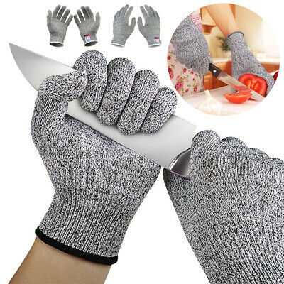 Cut Resistant Safe Gloves Anti-Cutting Level 5 Kitchen Butcher Protection XS-XL