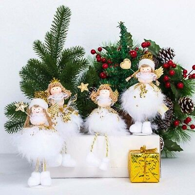 Christmas Angel Doll Toy Decoration Home Xmas New Year Gift Table Shine Decor