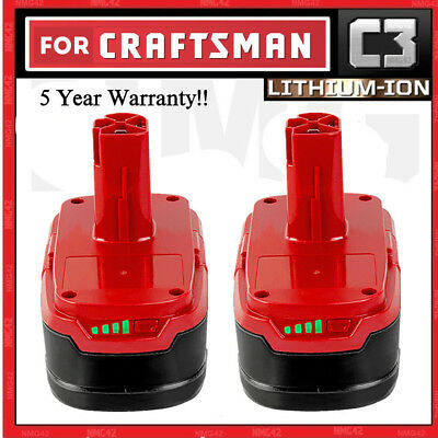 2X For Craftsman C3 19.2-volt XCP Compact lithium-ion Battery 5166 PP2011 9-357