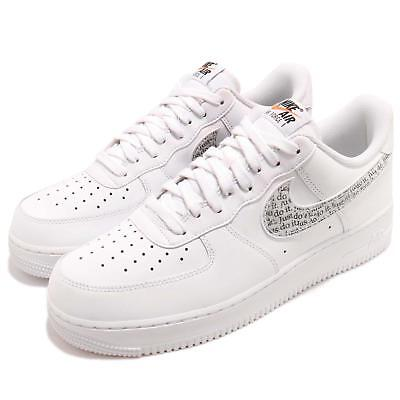 save off 468a4 4cd1e Nike Air Force 1 07 LV8 JDI LNTC White Black Just Do It Pack AF1 Shoe