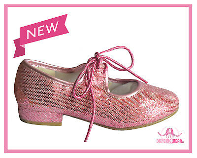 PINK Sparkle Glitter Hologram Tap Shoes Toddler, Children's 6,7,8,9,10,11,12,13