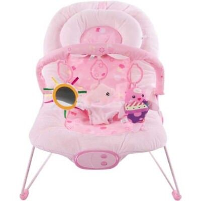 Luxury Soft Baby Bouncer Vibrating and Musical Bouncy Chair – Pink Fish