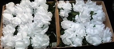 Artificial Flowers  White Roses 24 Bunches  6 Long Stem R/ Price