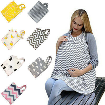 Cotton Baby Mum Breastfeeding Cover Nursing Udder Apron Shawl Cloth Adjustable