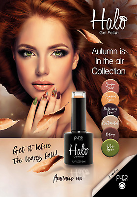 Pure Nails HALO UV Gel LED Nail Polish 8ml NEW Autumn is in the air Collection