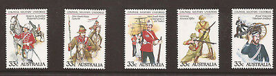 Australia 1985 19th. Century Military Uniforms MNH