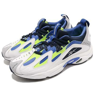 13337a155be Reebok DMX Series 1200 White Lime Blue Men Running Daddy Shoes Sneakers  CN7119