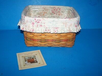 Longaberger 2002  Mothers Day Mom's Memories Basket  Good Conditionwith Liner
