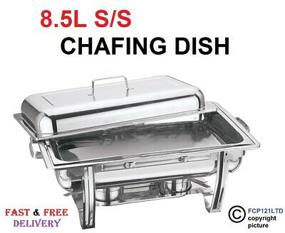 Chafing Dish Set Stainless Steel 8.5L Party Cater Food Warmer Fuel New 11038C