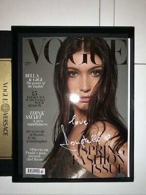 Donatella Versace hand Signed Limited Edition Versace UK Vogue Bella Hadid box