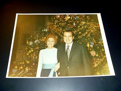 President Richard Nixon & Pat Nixon Christmas Official White House Photo 1972