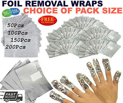 Nail Foil Soft Remover Wraps For Nail Gel Polish Art Soak Off Acrylic Removal Uk